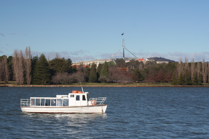 Lake Burley Griffin and Parliament House