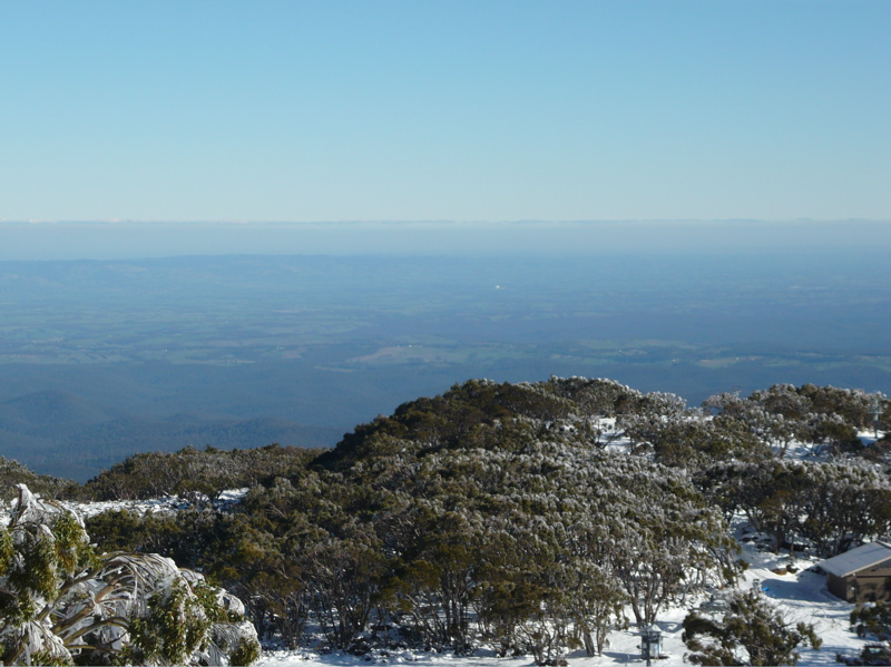 Looking down on the Gippsland region of Victoria from Mt. Baw Baw
