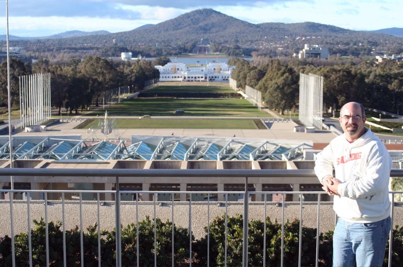 On Canberra's Parliament House