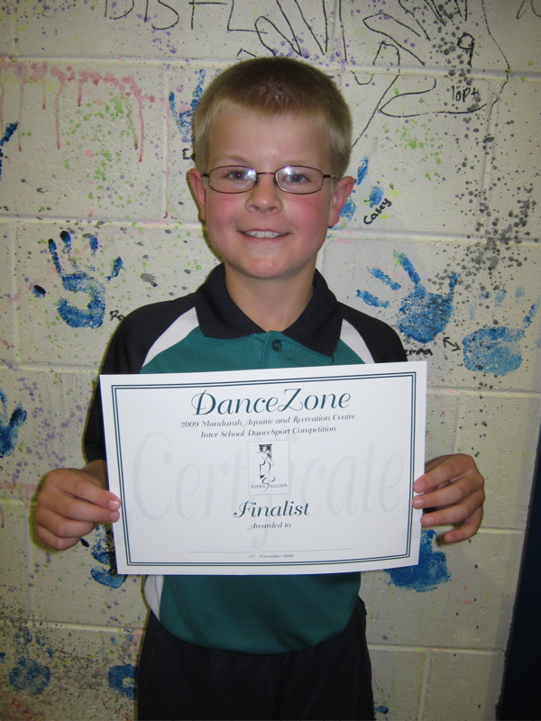 Dane's DanceSport award