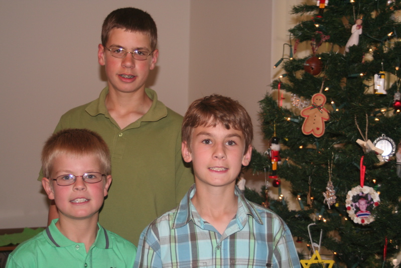 boys at Christmas