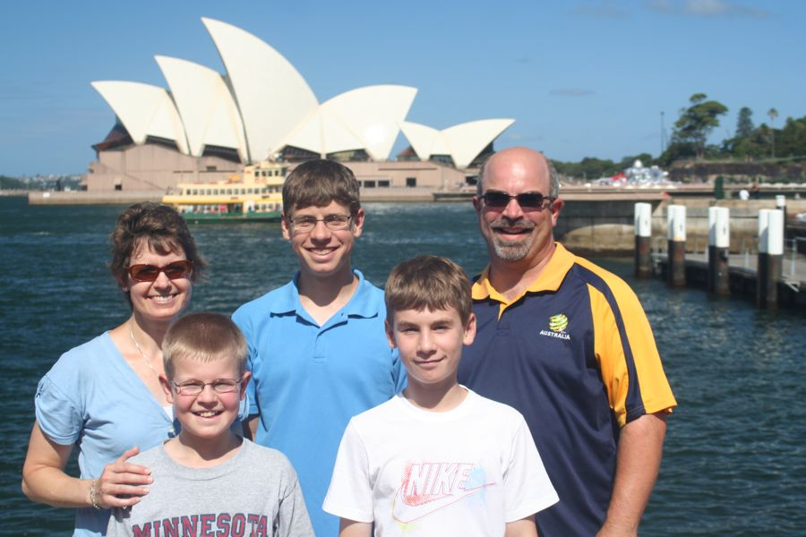 Family at Opera House