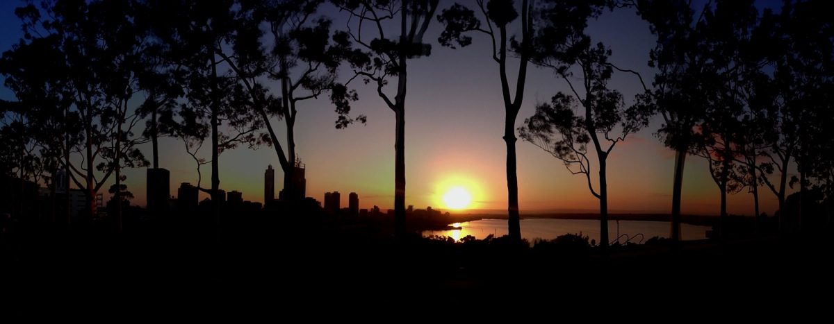 Perth sunrise panorama
