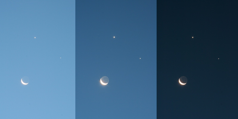 Moon with planets